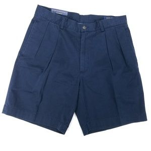 "Polo Ralph Lauren Classic Fit Pleated 9"" Shorts"